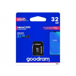 Karta SD 32GB micro+adaptor GOODRAM Class 10