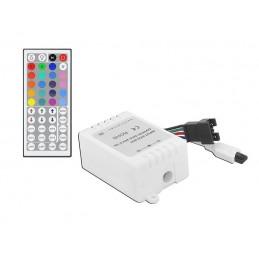Sterownik do taśm LED RGB IR 3x2A ze ściemniaczem+44-Key pilot