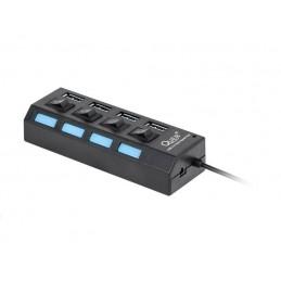 HUB USB 3.0 4-portowy aktywny z wyłącznikami / KOM0940