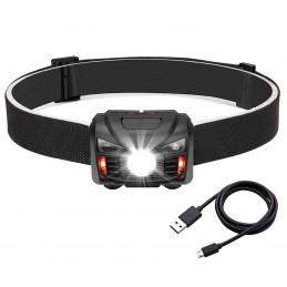 Latarka czołowa 1-LED sterowanie gestami z akumulatorem VA0020 / BX9405