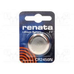 Bateria CR2450N litowa RENATA z kołnierzem / BAT-CR2450N/RE-B