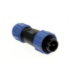 Złącze przemysłowe 2pin wtyk na przewód 13A 250V 13mm SP1310/P2I / 20318