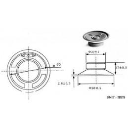 Głośnik YD50 5cm 0,5W 8ohm membrana plastikowa
