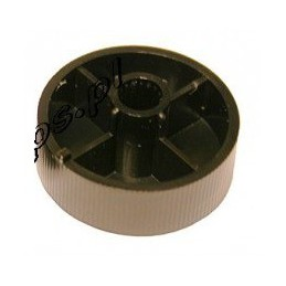 Gałka 0-13A płaska czarna na oś 6mm
