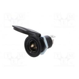 Gniazdo zapalniczki do obudowy zamykane klapka na spężynę 16A / PROCAR-67617100