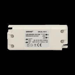 Zasilacz 12V/1A 12W montażowy do LED ORNO