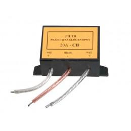 Samochodowy filtr przeciwzakłóceniowy CB 20A - 5824