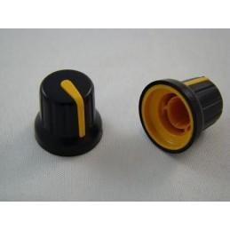 Gałka N-4 znacznik żółty oś 6mm