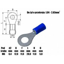 Konektor oczkowy KOB-6 601039