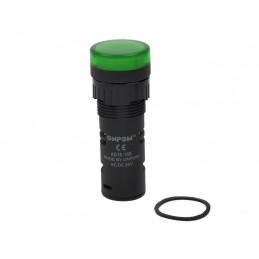 Kontrolka AD16-16E-G LED 16mm 24V zielona - 26898