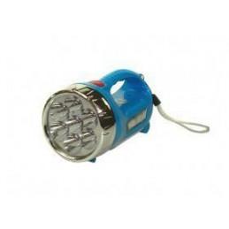 Latarka szperacz-MINI aku.LED 7+4 niebieska, 3-funkcje - 557