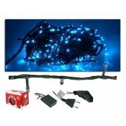 Lampki choinkowe 100 LED niebieskie (8m) - LxAS107
