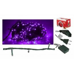 Lampki choinkowe 100 LED fioletowe (5,5m)