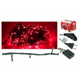 Lampki choinkowe 100 LED czerwone (8m) - Lx AS109