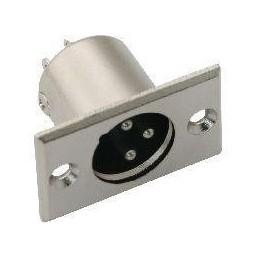 Wtyk mikrofonowy XLR 3-pin do obudowy