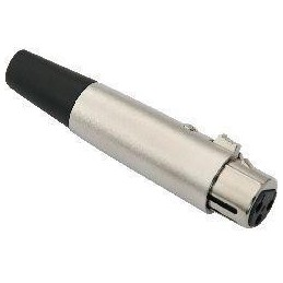 Gniazdo mikrofonowe XLR 3-pin na kabel metal. - Lx7080 - WTY0044