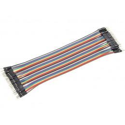 Zestaw kabli stykowych do płytek montażowych wt-wt 40szt.dł.18cm - 6654