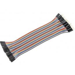 Zestaw kabli stykowych do płytek montażowych wt-gn 40szt.dł.18cm - 6653