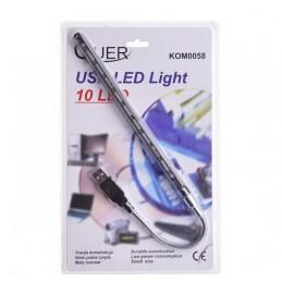 Lampka LED USB 10-led -...