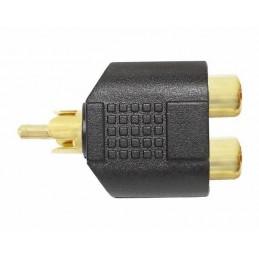 Rozgałężnik RCA wt-2gn złoty - ZLA0307