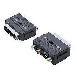 """Rozgałężnik EURO-3GN.RCA+VHS z przełącznikiem zwykły """"""""kostka"""""""" - 2568"""
