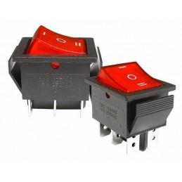 Przełącznik klawisz IRS-203-1C 3-poz duży podświetlany 230V czerwony - PRK0046 - 09143