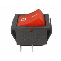 Przełącznik klawisz MK621 12V czerwony duży podświetlany