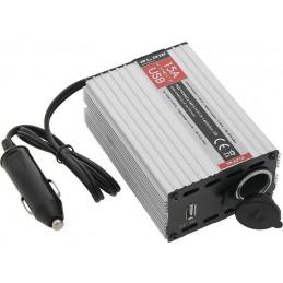Reduktor napięcia 24-12 15A z gn.USB 0,5A - 58-621