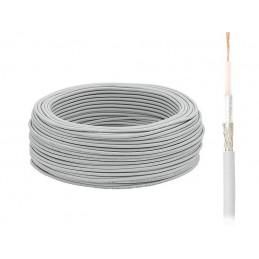 Przewód koncentryczny RG58 linka miedż, oplot stalowy - 1727 - KAB0025