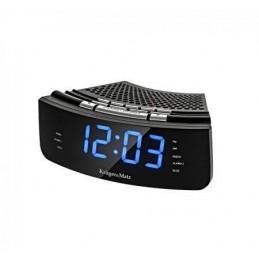 Radiobudzik Kruger&Matz KM0813 FM LED niebieski zegar+bluetooth+AUX / KM0813