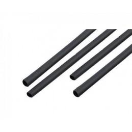 Rurka termokurczliwa 2,5mm/1,2mm - 1m czarna / NAR0244