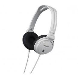 Słuchawki SONY MDR-V150 białe - DJ obracane nauszniki