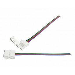 Złącze taśm LED RGB 10mm zatrzask kabel
