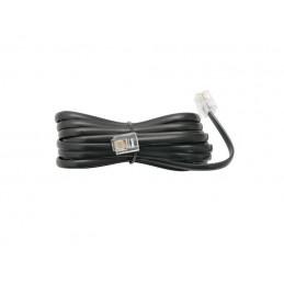 Sznur telefoniczny SP4-4/10 wt-wt czarny