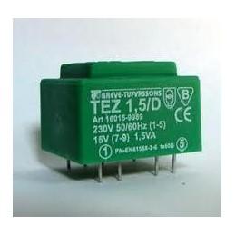 TEZ1,5/D 230/7,5V transformator sieciowy zalewany