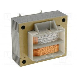 TS8/10/1 2x10,5V 2x0,3A transformator sieciowy
