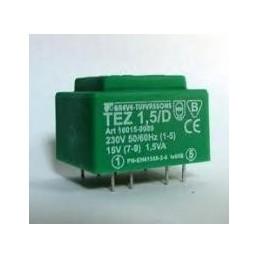 TEZ1,5/D 230/9V transformator sieciowy zalewany
