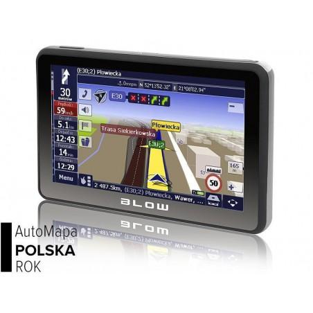 Nawigacja GPS BLOW Sirocco GPS590+AutoMapa PL Bt+Transmiter FM - 78-212