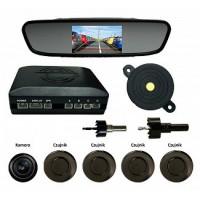Samochodowe kamery cofania i czujniki parkowania.